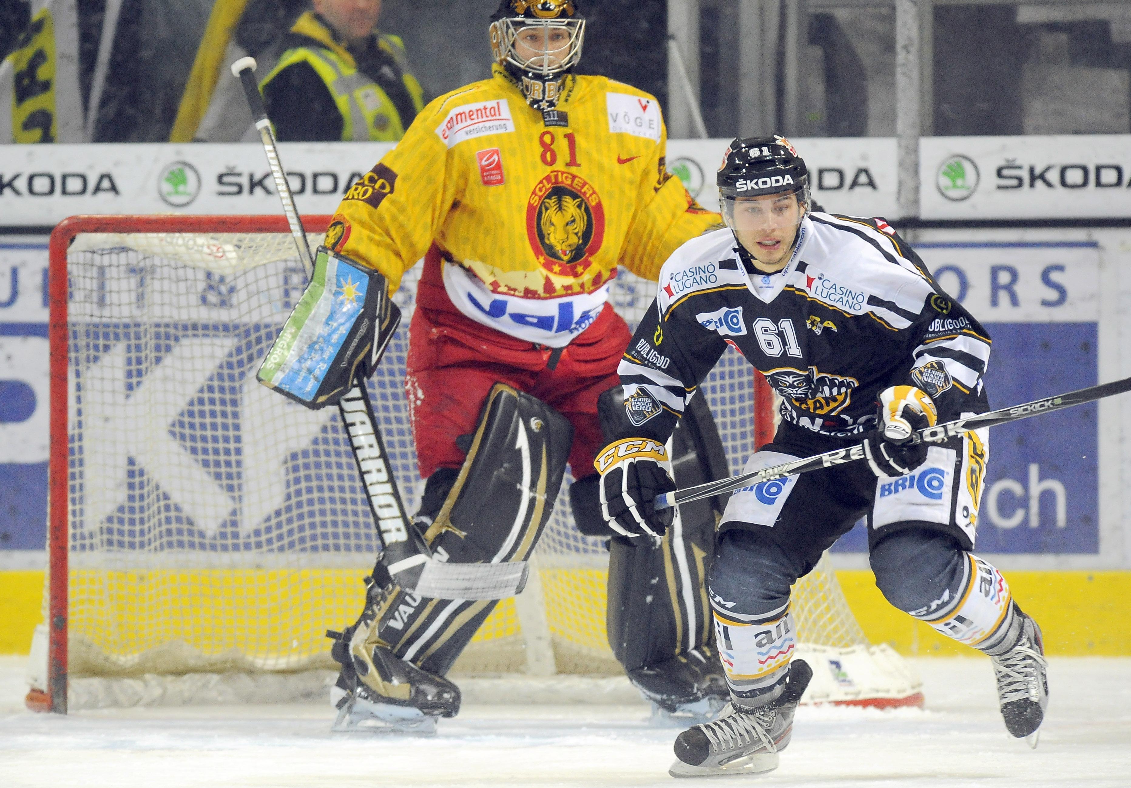 Mauro Jörg Hockey Club Lugano bianconero HC Davos