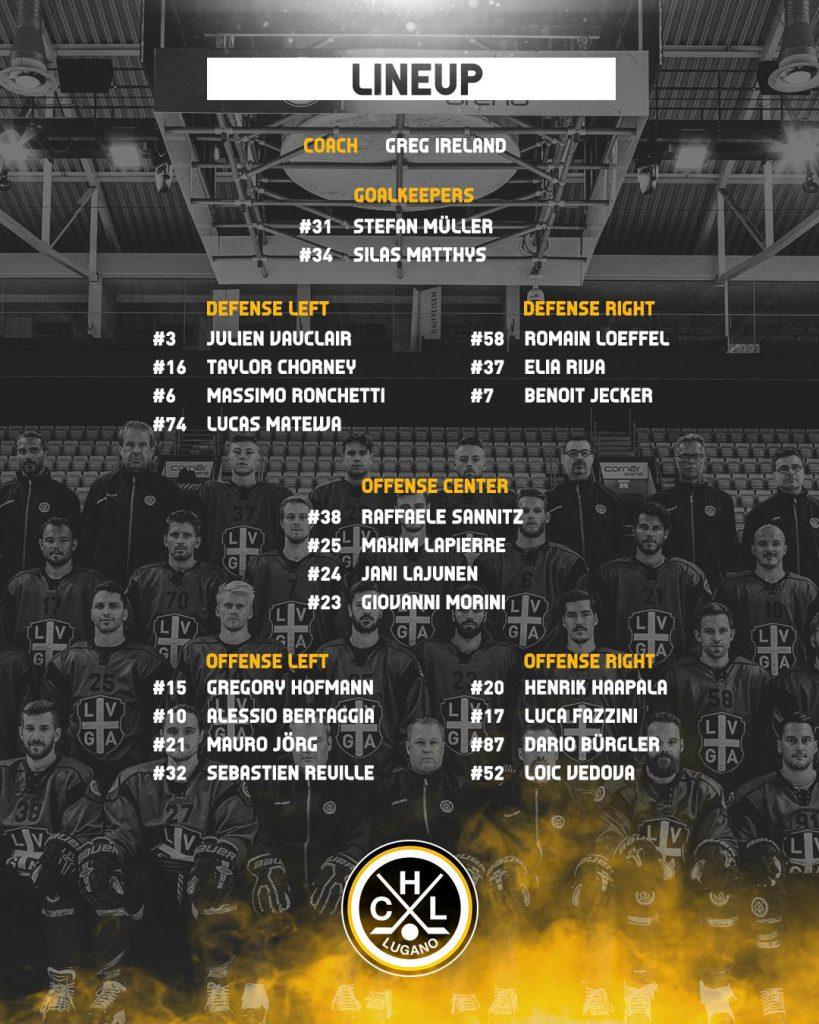 Lineup Geneve-Servette HC vs HC Lugano_07.01.2019