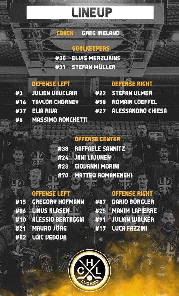 Lineup_ SC Bern vs HC Lugano_19.01.19