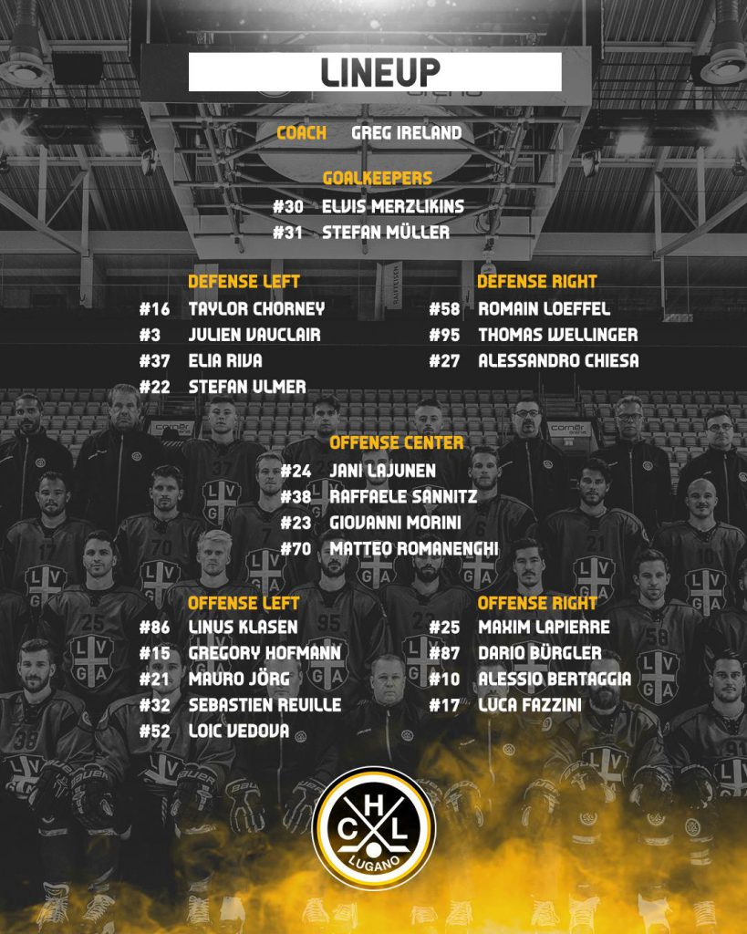 Lineup_HC Lausanne vs HC Lugano_19.02.2019