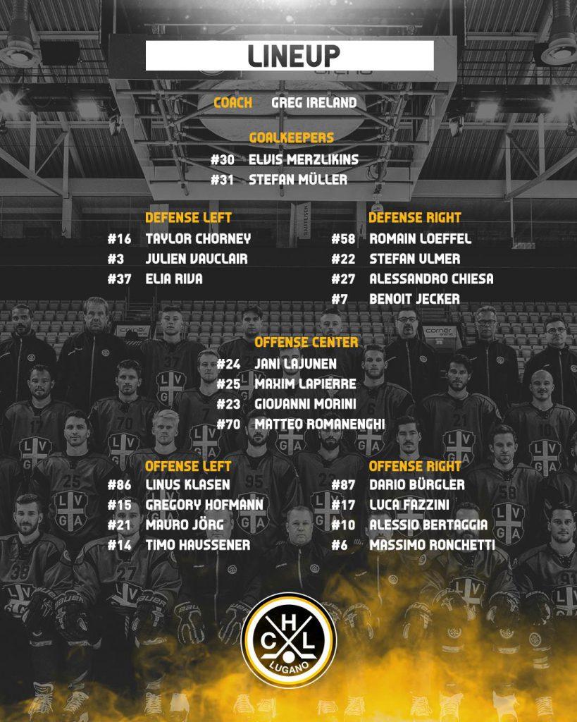 Lineup_HC Lugano vs EV Zug_08.02.2019