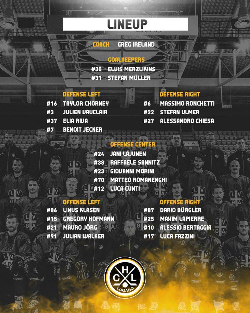 Lineup_HC Lugano vs SCL Tigers_29.01.2019