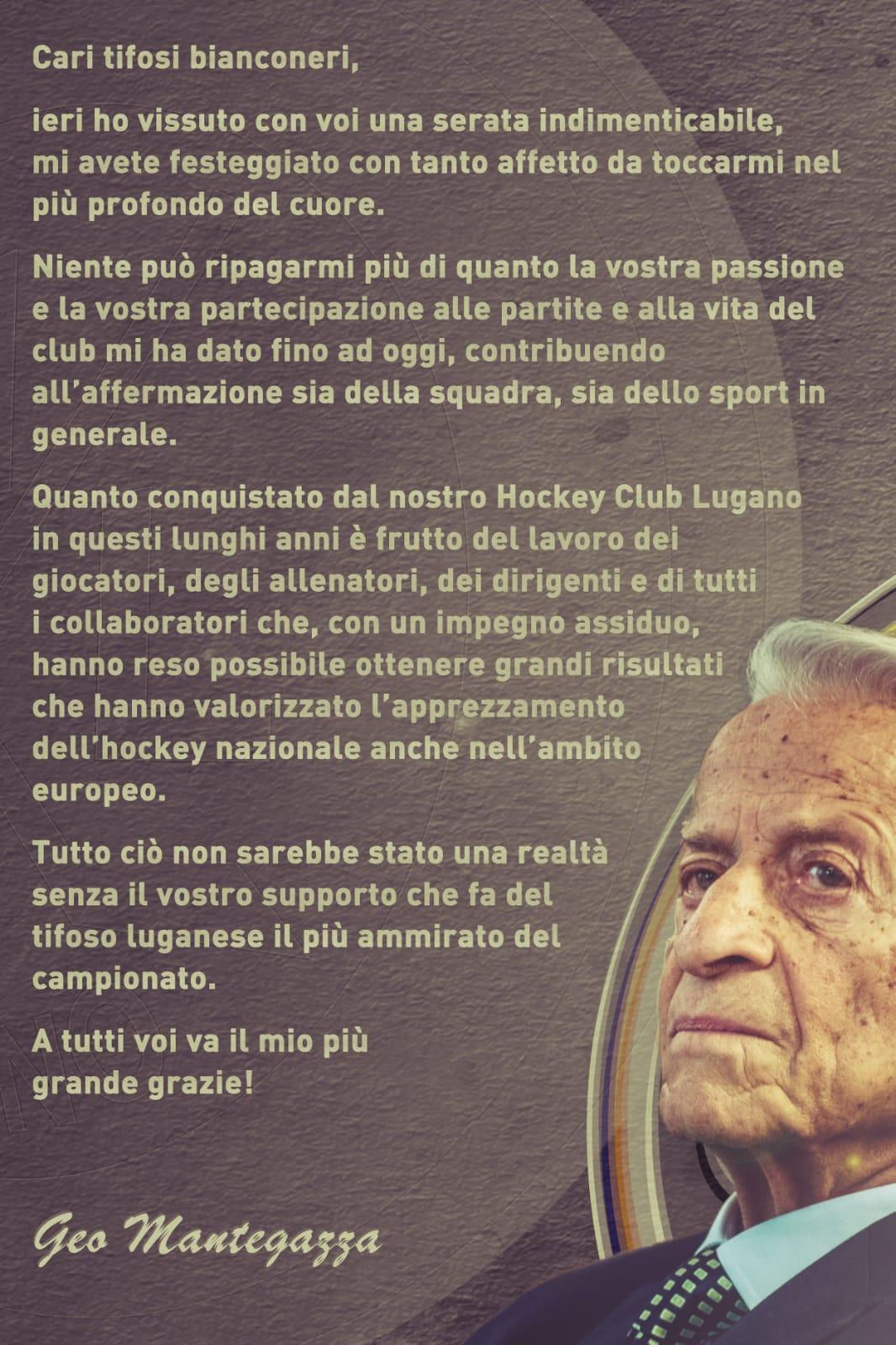 Geo Mantegazza 90 anni