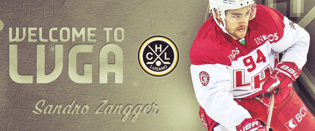 Third new forward: two-years contract for Sandro Zangger